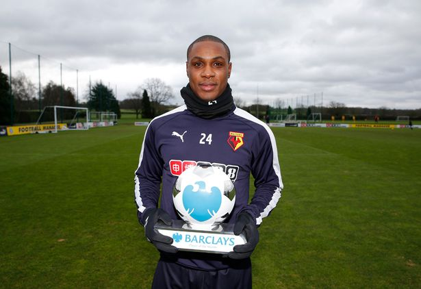 Nigeria's Ighalo wins EPL Player of the Month Award