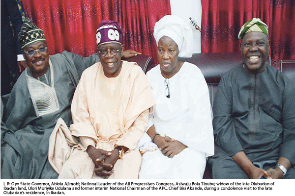 Tinubu, Akande, Osun Assembly, others mourn Olubadan
