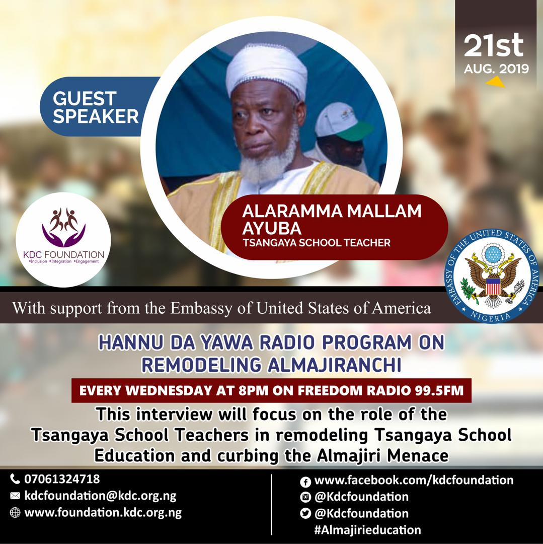 "EPISODE 5 OF KDC FOUNDATION'S ""HANNU DA YAWA"" RADIO PROGRAM ON FREEDOM RADIO 99.5FM"