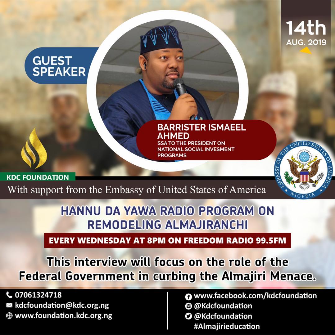 "KDC FOUNDATION'S ""HANNU DA YAWA"" RADIO PROGRAM ON FREEDOM RADIO 99.5FM, SPONSORED BY U.S EMBASSY"